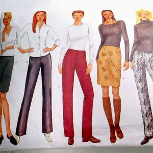 Butterick Sewing Pattern Skirt/2 Pant Styles 18-22